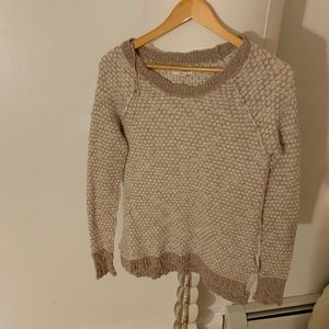 Sweaters - tan patterned sweater